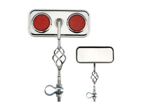 Picture of Cage Rectangle Mirror Red Reflectors