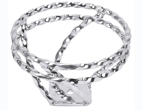 Picture of Full Double Twisted Swirl Steering Wheel Chrome.