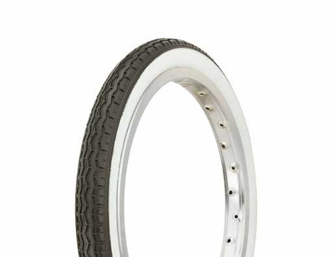 "Picture of Tire Duro 16"" x 1.75"" Black/White Side Wall HF-160A."