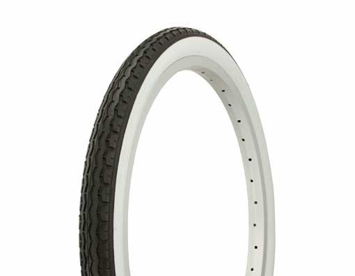 "Tire Duro 20"" x 1.75"" Black/White Side Wall HF-160A."