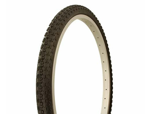 "Picture of Tire Duro 24"" x 1.75"" Black/Black Side Wall HF-143G."