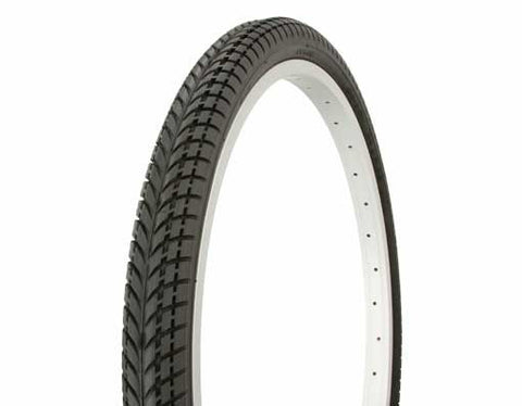 "Picture of Tire Duro 24"" x 2.00"" Black/Black Side Wall HF-810."