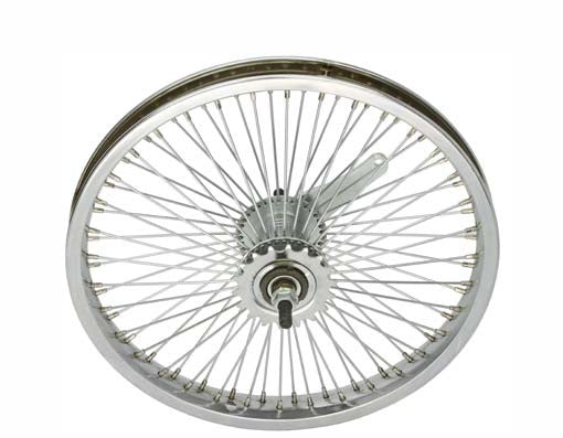 "16"" 72 Spoke Coaster Wheel 14G Chrome."