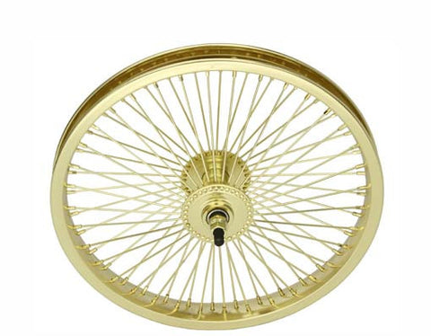 "Picture of 16"" 72 Spoke Front Wheel 14G Gold."