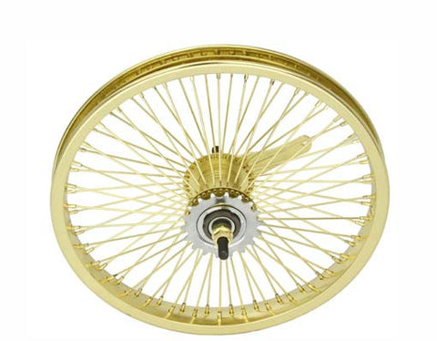 "Picture of 16"" 72 Spoke Coaster Wheel 14G Gold."