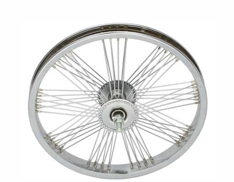 "Picture of 16"" Fan 72 Spoke Front Wheel 14G Chrome."