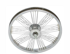 "16"" Fan 72 Spoke Front Wheel 14G Chrome."