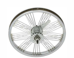 "16"" Fan 72 Spoke Coaster Wheel 14G Chrome."