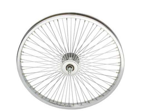 "Picture of 20"" 72 Spoke Front Wheel 14G Chrome."