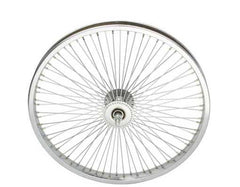 "20"" 72 Spoke Front Wheel 14G Chrome."