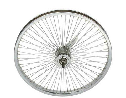 "Picture of 20"" 72 Spoke Coaster Wheel 14G Chrome."