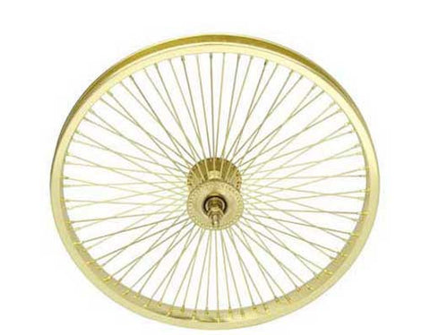"Picture of 20"" 72 Spoke Front Wheel 14G Gold."