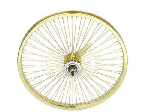 "Picture of 20"" 72 Spoke Coaster Wheel 14G Gold."