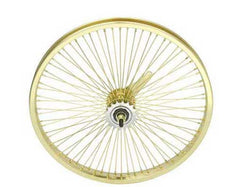 "20"" 72 Spoke Coaster Wheel 14G Gold."