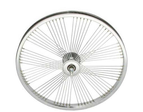 "Picture of 20"" Fan 72 Spoke Front Wheel 14G Chrome."