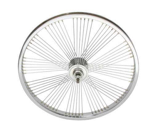 "20"" Fan 72 Spoke Free Wheel 14G Chrome."