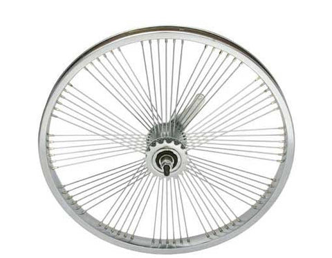 "Picture of 20"" Fan 72 Spoke Coaster Wheel 14G Chrome."