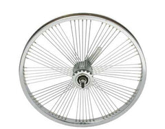 "20"" Fan 72 Spoke Coaster Wheel 14G Chrome."