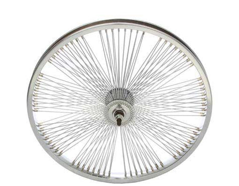 "Picture of 20"" Fan 144 Spoke Front Wheel 14G Chrome."