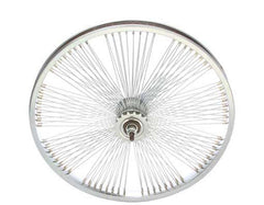 "20"" Fan 144 Spoke Coaster Wheel 14G Chrome."