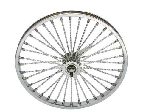 "Picture of 20"" 36 Twisted Spoke Coaster Wheel Chrome."