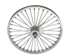 "20"" 36 Twisted Spoke Coaster Wheel Chrome."