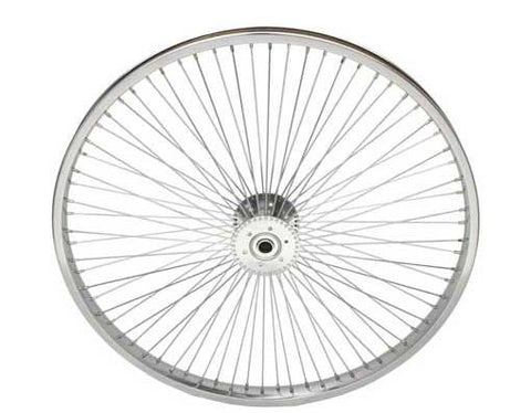 "Picture of 24"" 72 Spoke Hollow-Hub Wheel 14G Chrome."