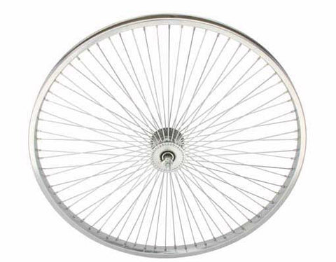 "Picture of 26"" 72 Spoke Front Wheel 14G Chrome."