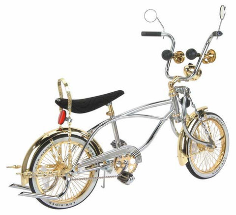 "Picture of 16"" Lowrider Bike Gold-Chrome 527-3."