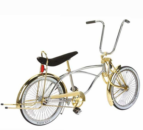 "Picture of 20"" Lowrider Bike Chrome-Gold 533-3."