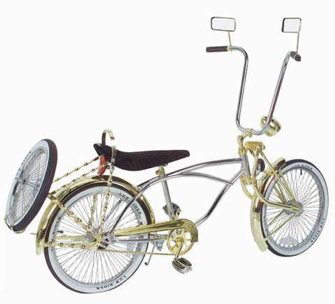 "Picture of 20"" Lowrider Bike Chrome-Gold 535-3."