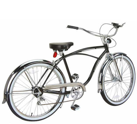 "Picture of 26"" 5 Speed Beach Cruisers Bike Black 590-1."