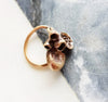 Woodland Treasure Ring - Mushroom Eco-System For Your Hand - Bronze Ring