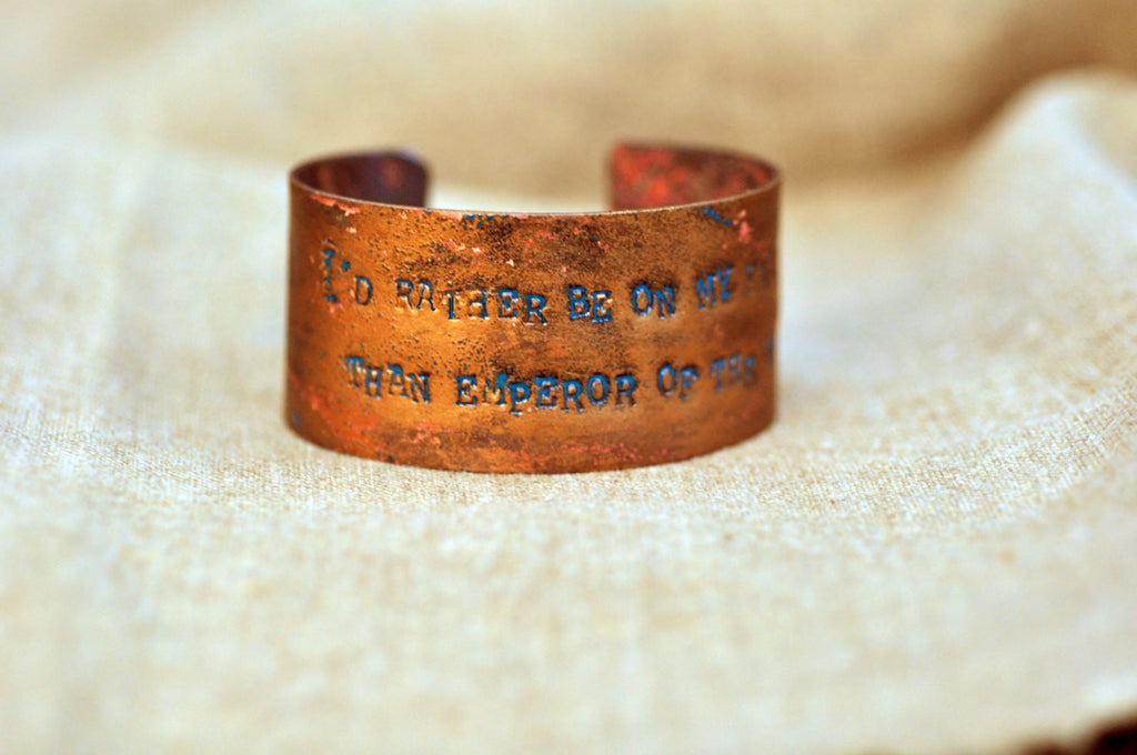 George Washington 'Farmer / Emperor' Quote Cuff