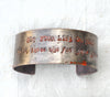 Handcrafted 'Fire' Quote Cuff