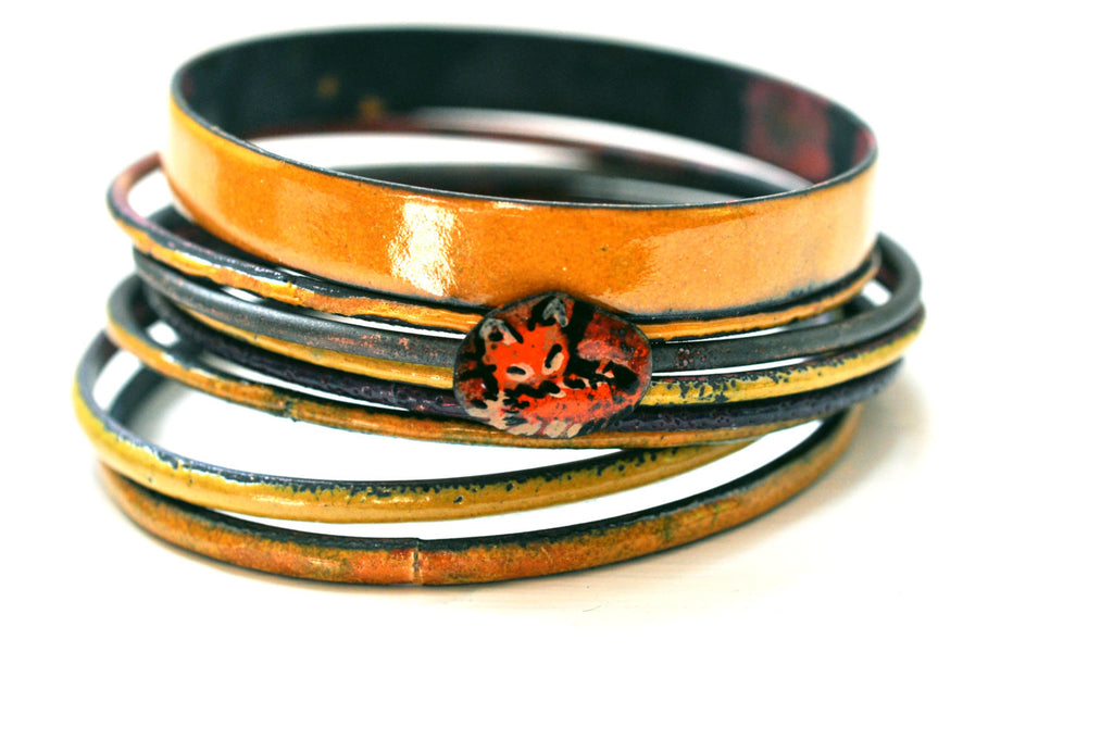 Handmade Bangle - 'Foxy Gent' - Holiday Gift for Her