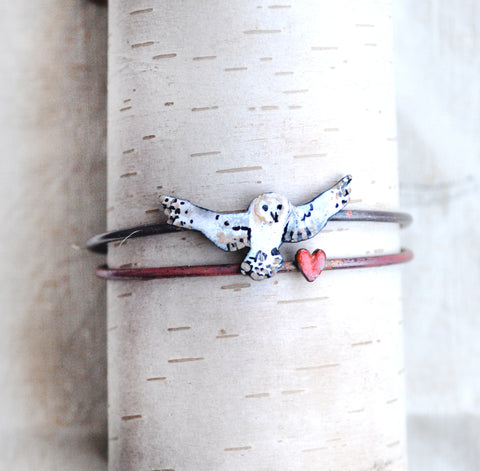 'Heart Snatcher' - Enamel Charm Bangle