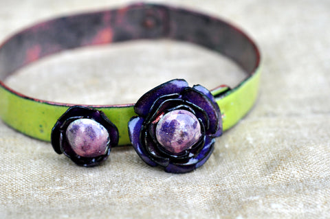 Mill End Bracelet - Purple 'Anemone'