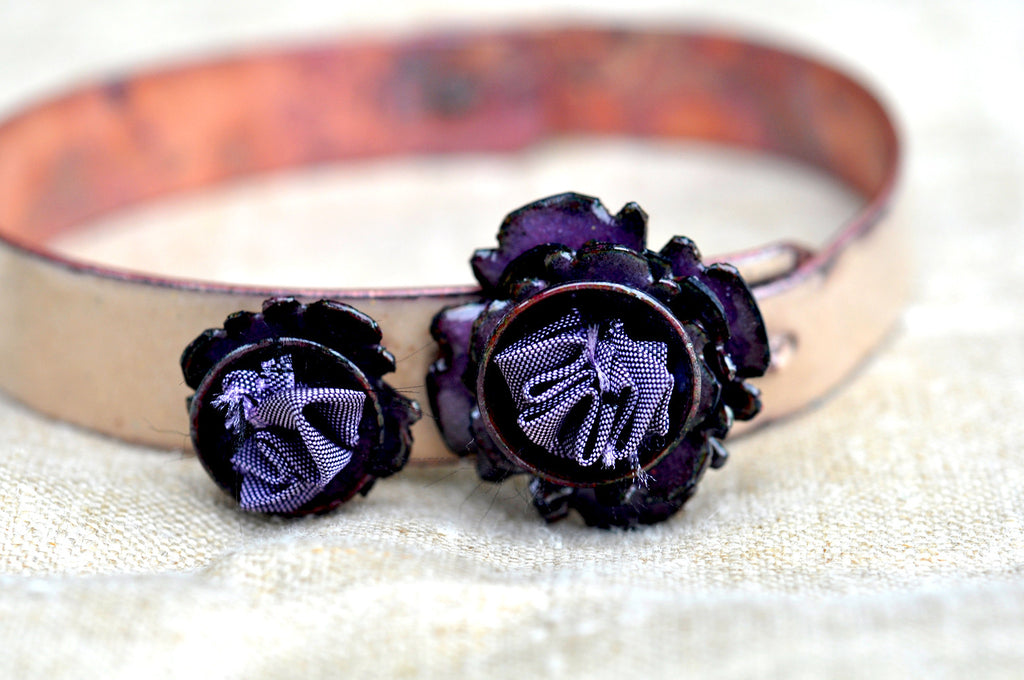 Mill End Bracelet - Deep Purple 'Starflower'