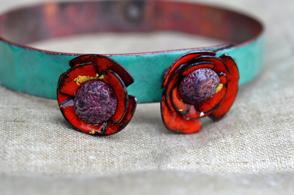 Mill End Bracelet - Red 'Poppy'