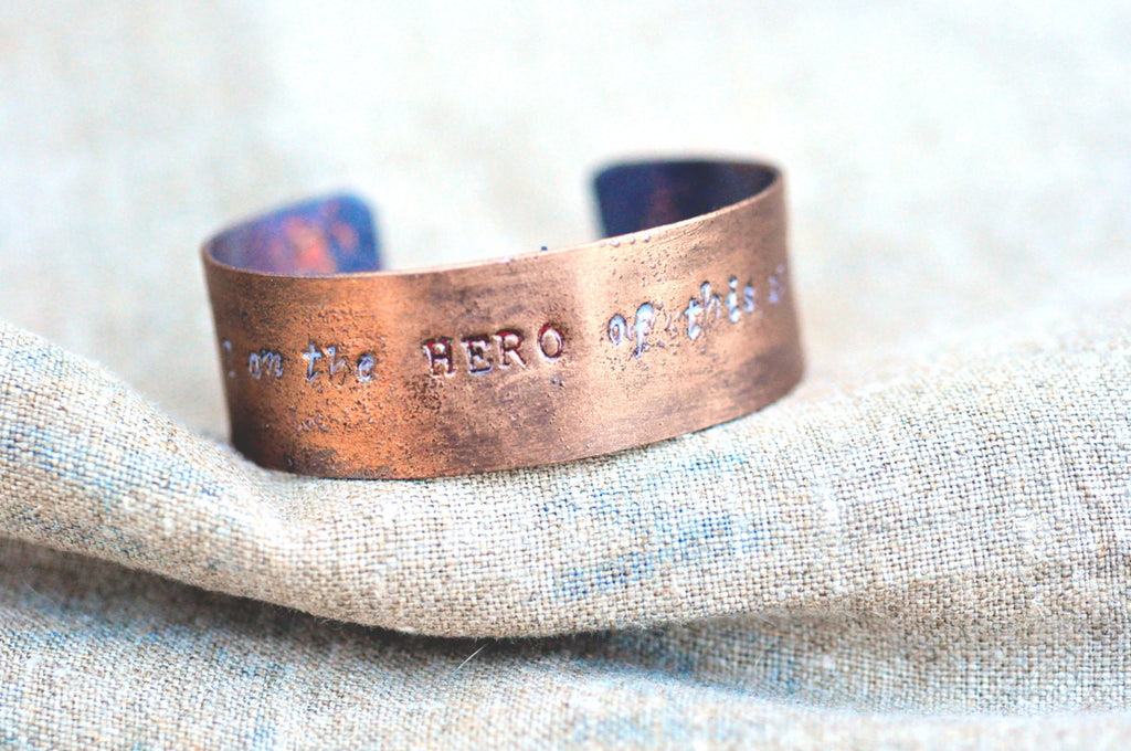 Handcrafted 'Protagonist' Quote Cuff
