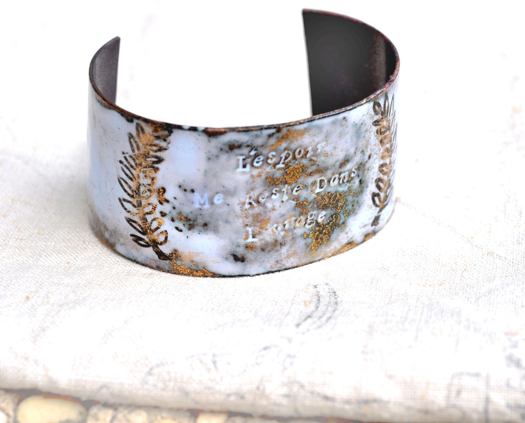 French 'STORM' Quote Cuff Bracelet
