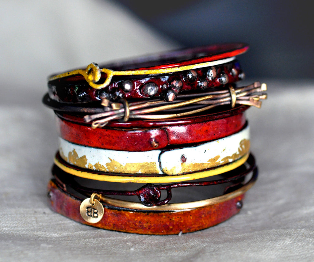 'Tellicherry' Enamel Bangle Set