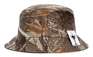 TopHeadwear Print Bucket Hats - Woodland - Green