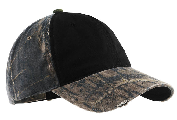Top Headwear Camo Cap w/ Contrast Front Panel