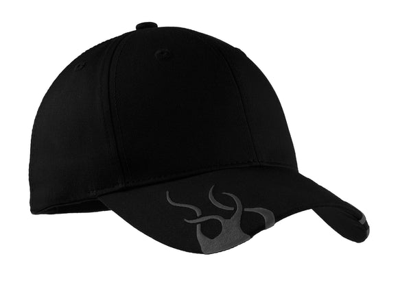 Top Headwear Racing Cap w/ Flames