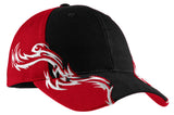 Top Headwear Colorblock Racing Cap w/ Flames