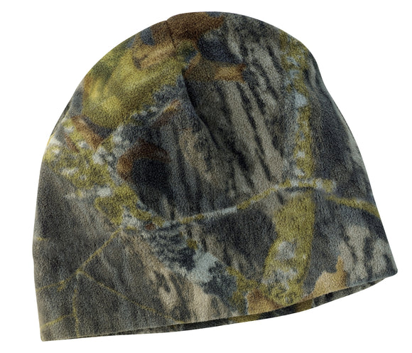 Top Headwear Camouflage Fleece Beanie