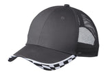 Top Headwear Checkered Racing Mesh Back Cap