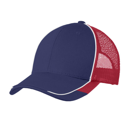Top Headwear Colorblock Mesh Back Cap
